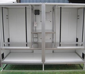 Insulated Dual Bay Analyzer Cabinet with Air Conditioning