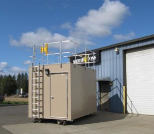 Remote Air Monitoring Shelter w/24Ga Prefinished Steel (Sierra Tan) Exterior Cladding