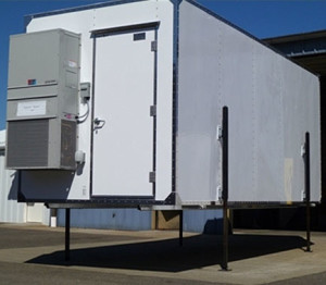 Transportable Monitoring Shelter with Jack System