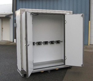 Gas Bottle Cabinet with Brackets