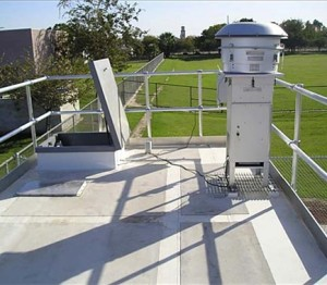 Roof Platform System w/ Walk Pads, Instrument Mounting Grates, Bulkhead Plate, Hatch, and Engineered OSHA Rail System